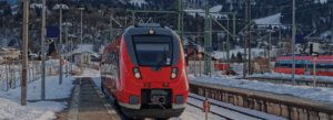 image of a german high speed train in the station