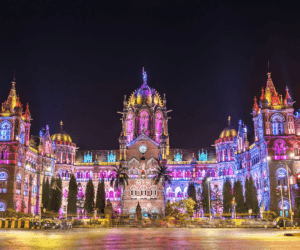 CHHATRAPATI SHIVAJI TERMINUS At Night