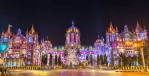 Chhatrapati Shivaji Maharaj Terminus at night