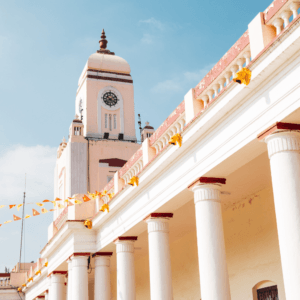 Image of Clock tower at Mysore railway station in India