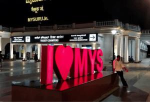 Mysore Junction at night