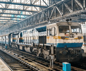 Passenger train at Chhatrapati Station
