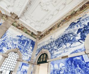 The decorative ceiling at sao Bento