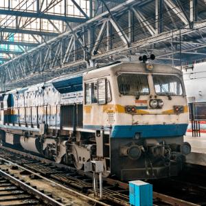 freight train at Chhatrapati Shivaji Terminus